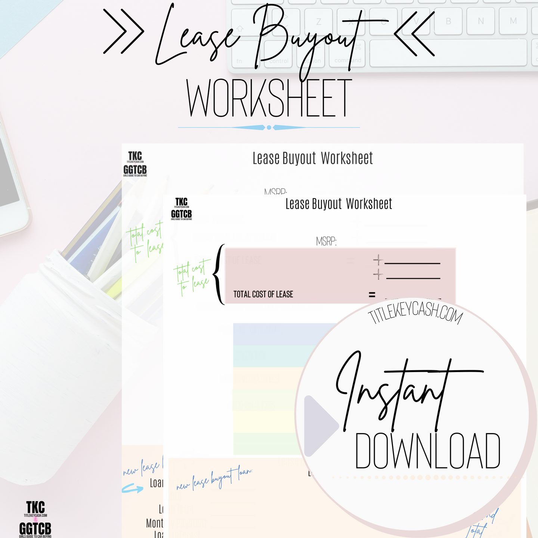 Lease Buyout Worksheet