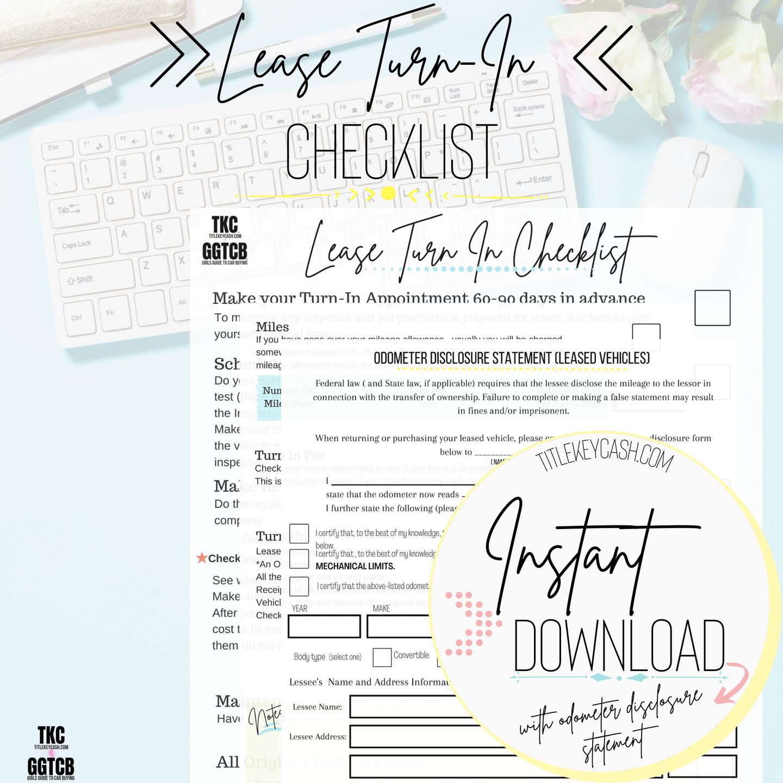 Lease Turn In Checklist