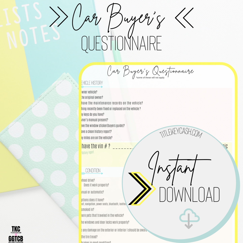 Car Buyer's Questionnaire