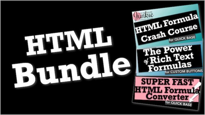 Quickbase HTML Training Bundle