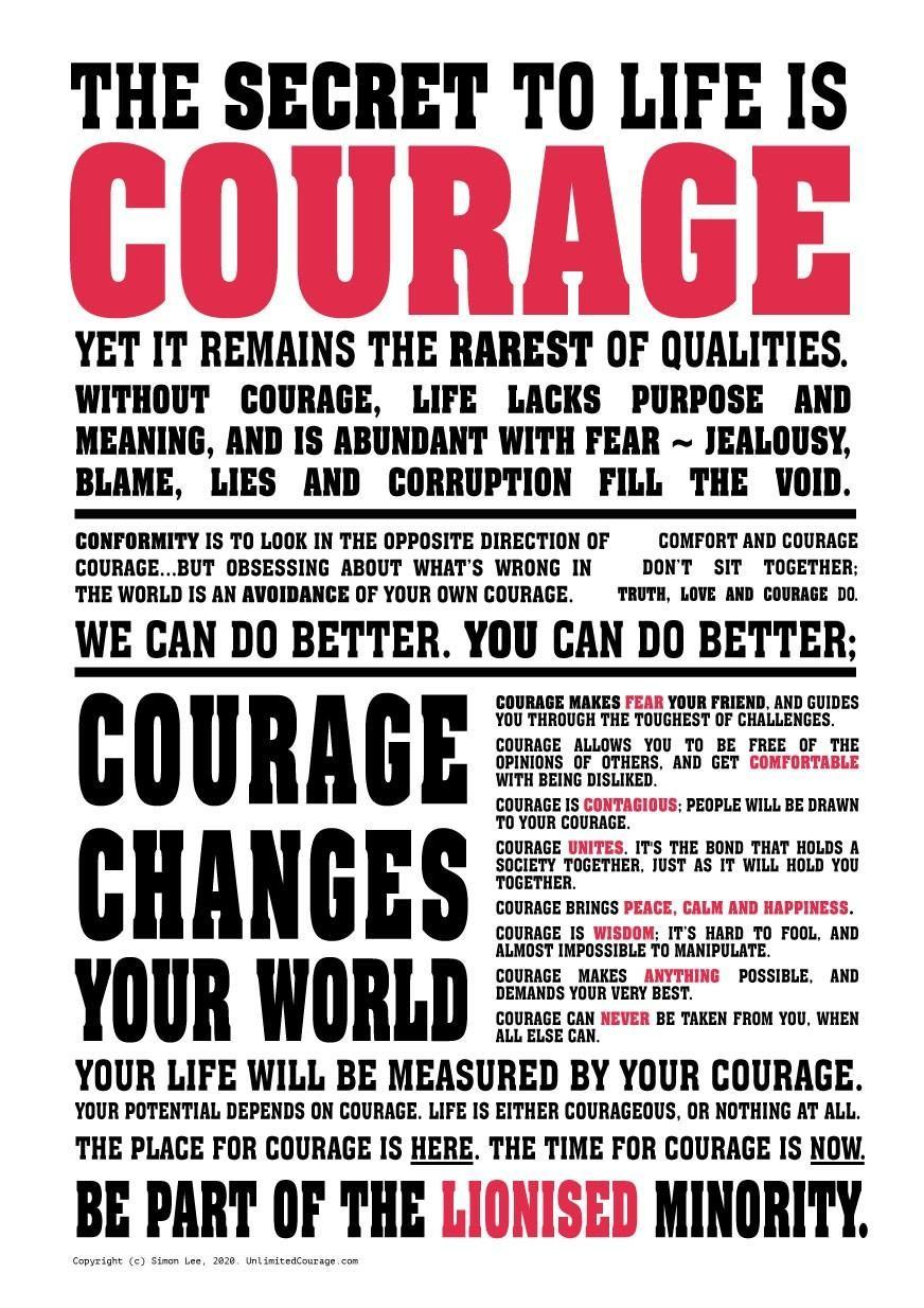 The Unlimited Courage Manifesto