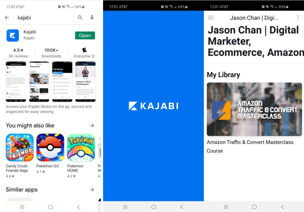 mobile app kajabi