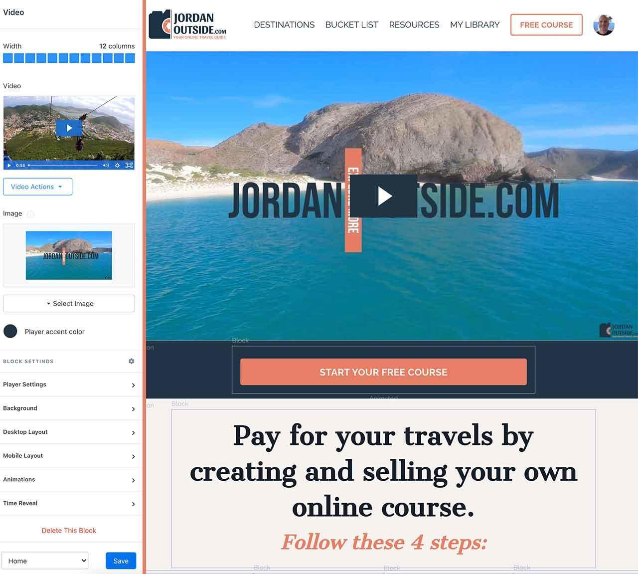 Kajabi Website Builder