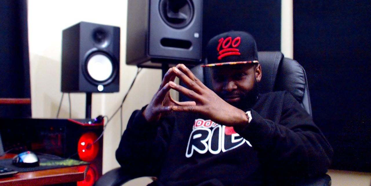 image of man in recording studio