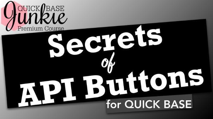 Secrets of API Buttons for Quick Base - Title