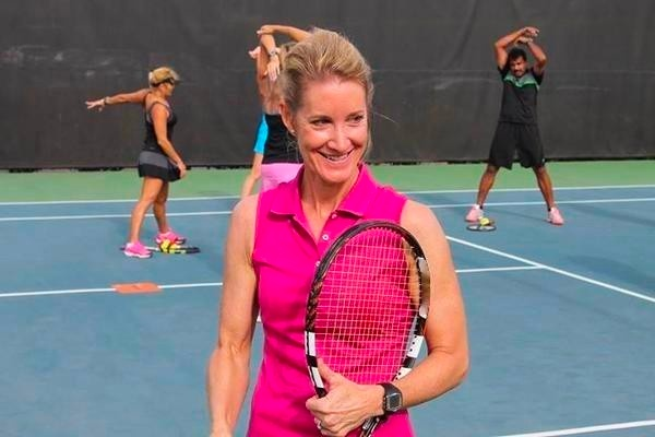 Michele Krause instructing inTENNSity Fitness class