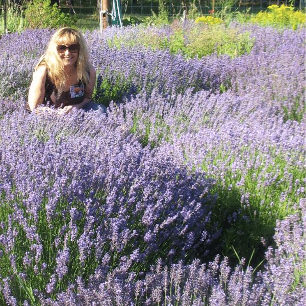 Dr. Kelly Ablard in lavender field