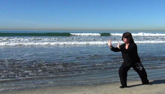 Maria Furlano beach martial practice