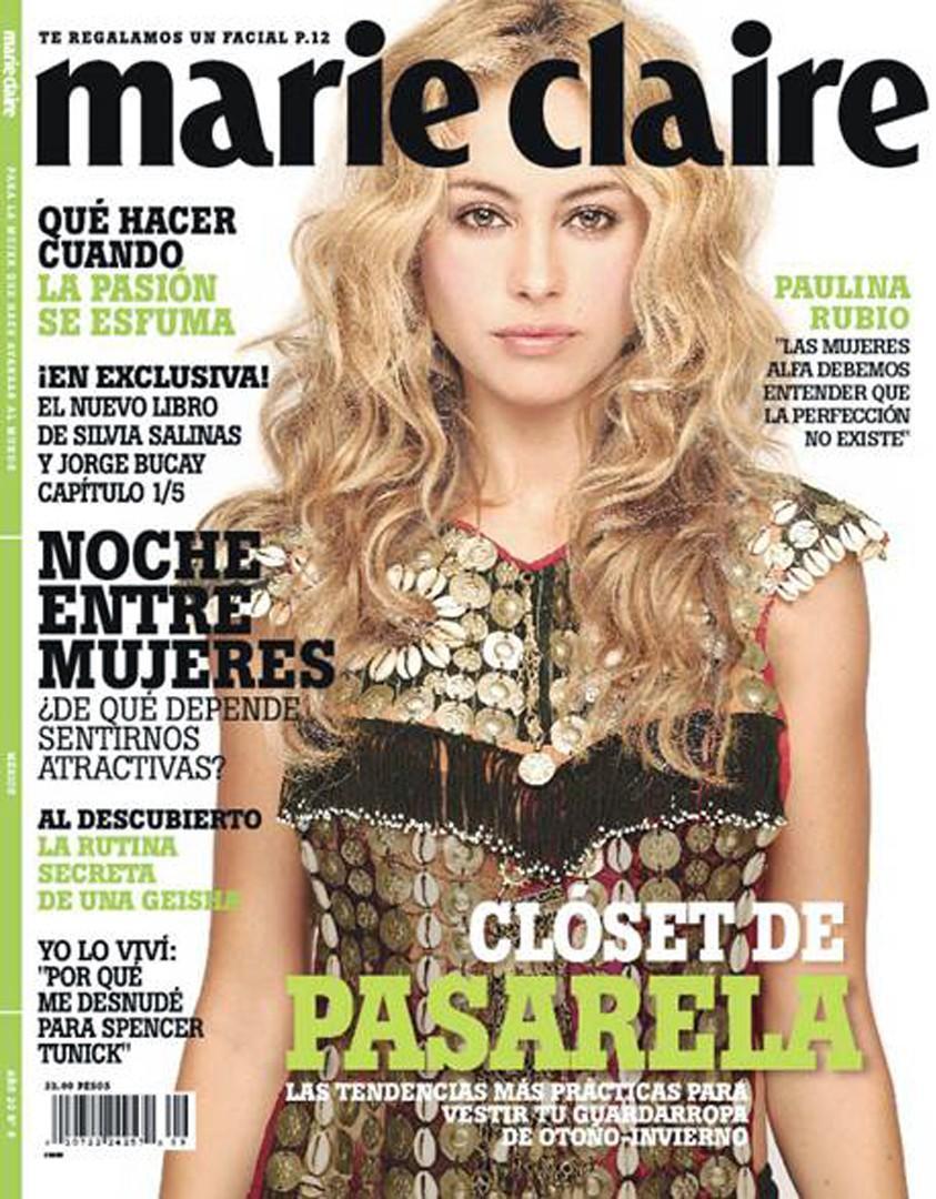 Paulina Rubio en Revista Marie Claire