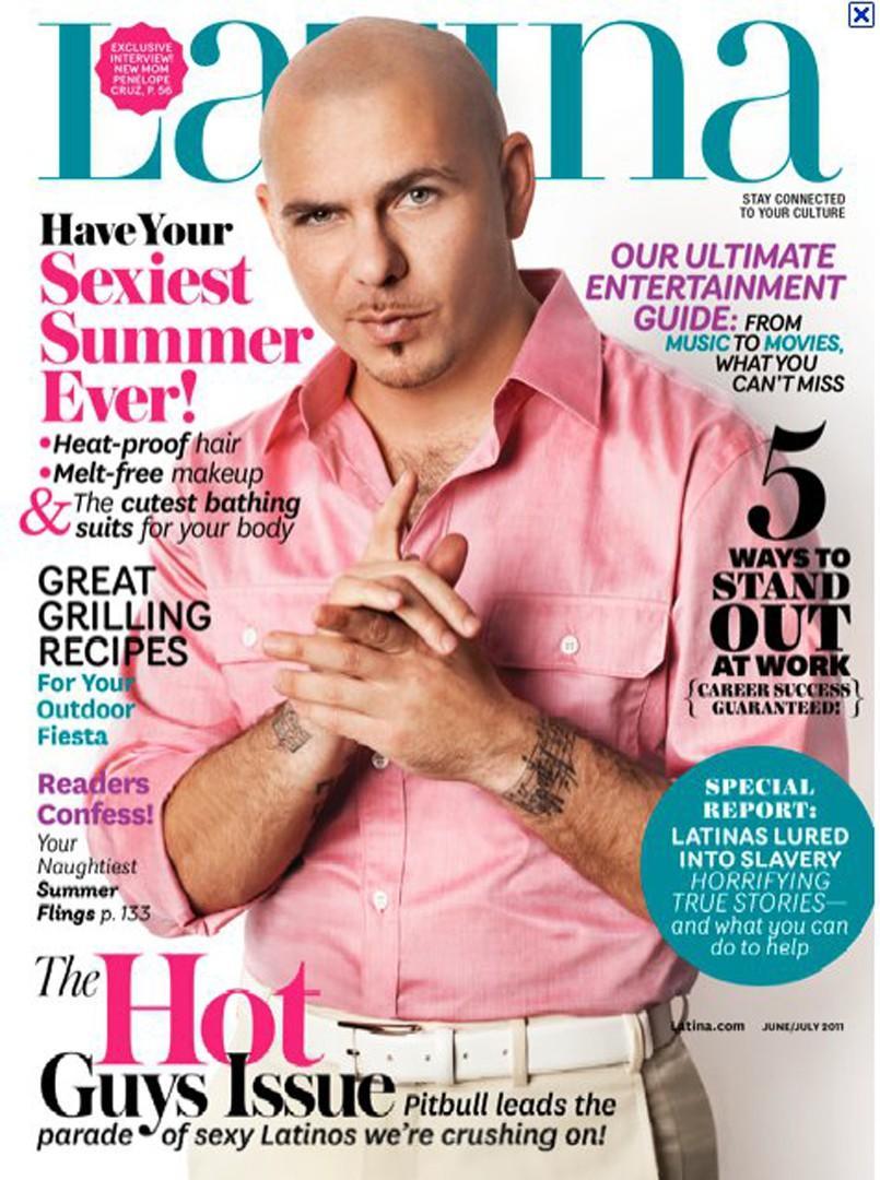 Pitbull en Latina Magazine