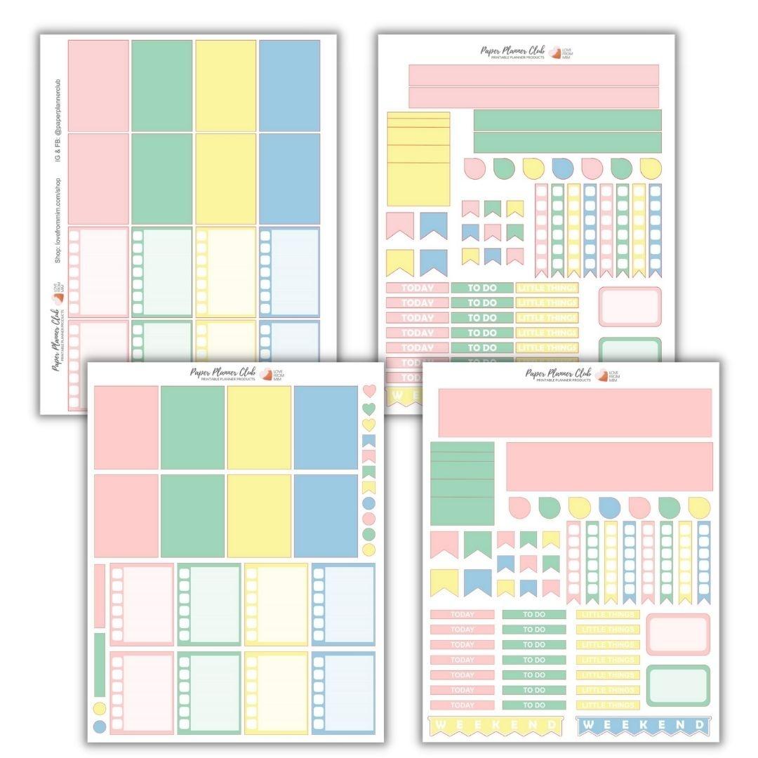 Planner sticker templates