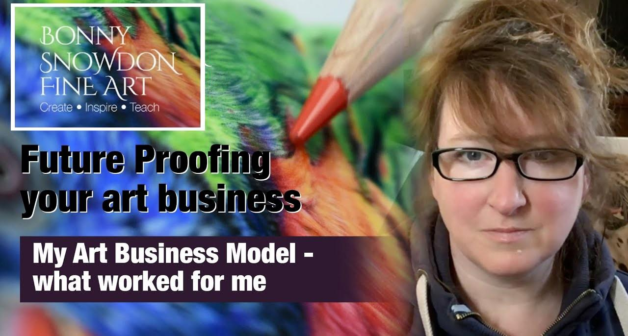 Art Business Models - How I Combined Teaching with Commissions - YouTube Library - Bonny Snowdon Fine Art