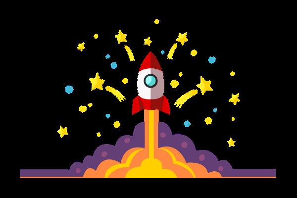 Cartoon rocket image