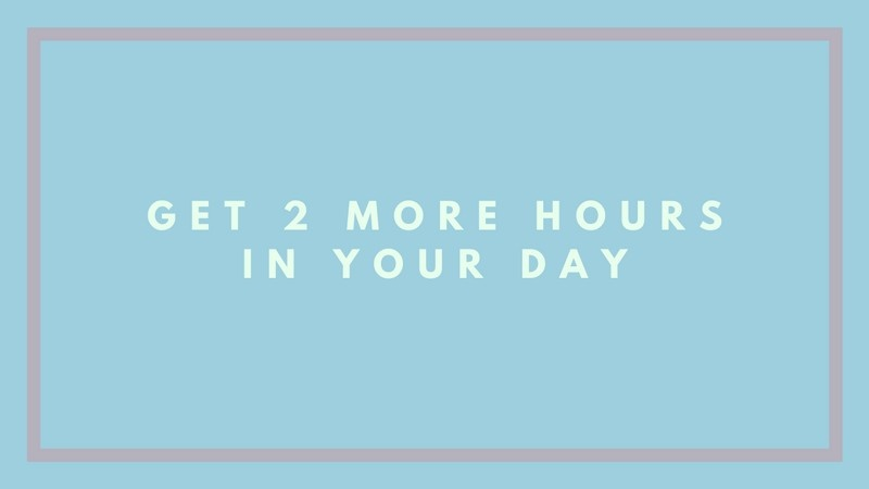 Downloadable Worksheet: How To Find More Time In Your Day