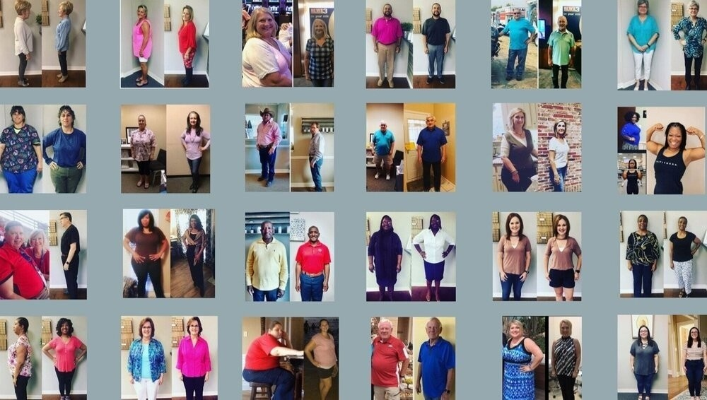 Weight loss program transformations