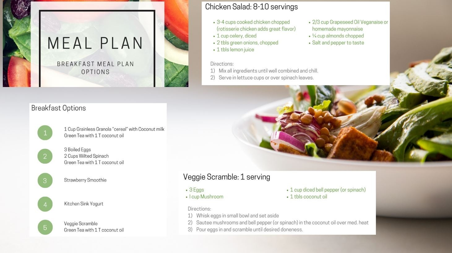 Weight loss program meal plan