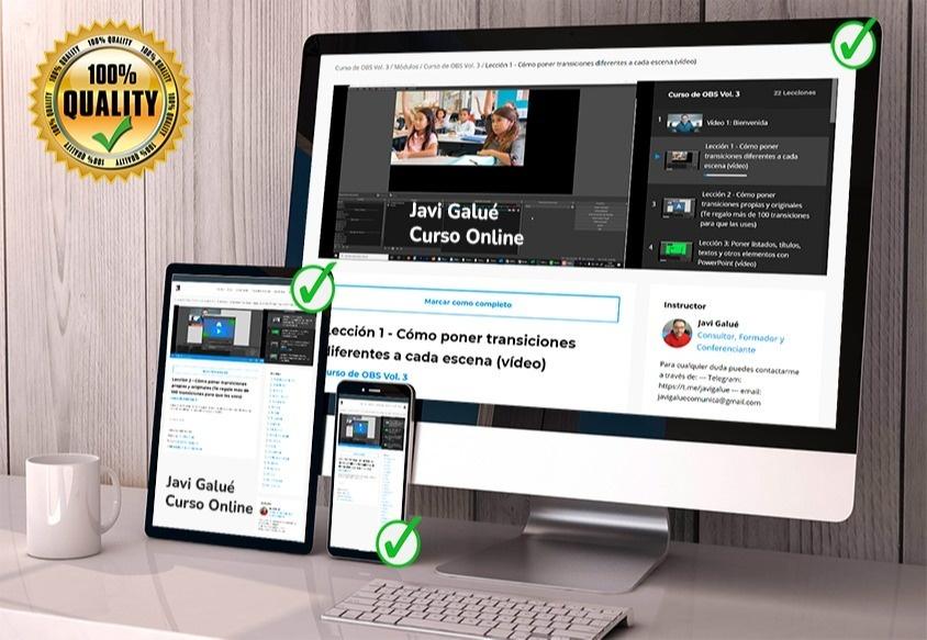 Curso online de OBS de javi Galué - Convierte tus seguidores en clientes