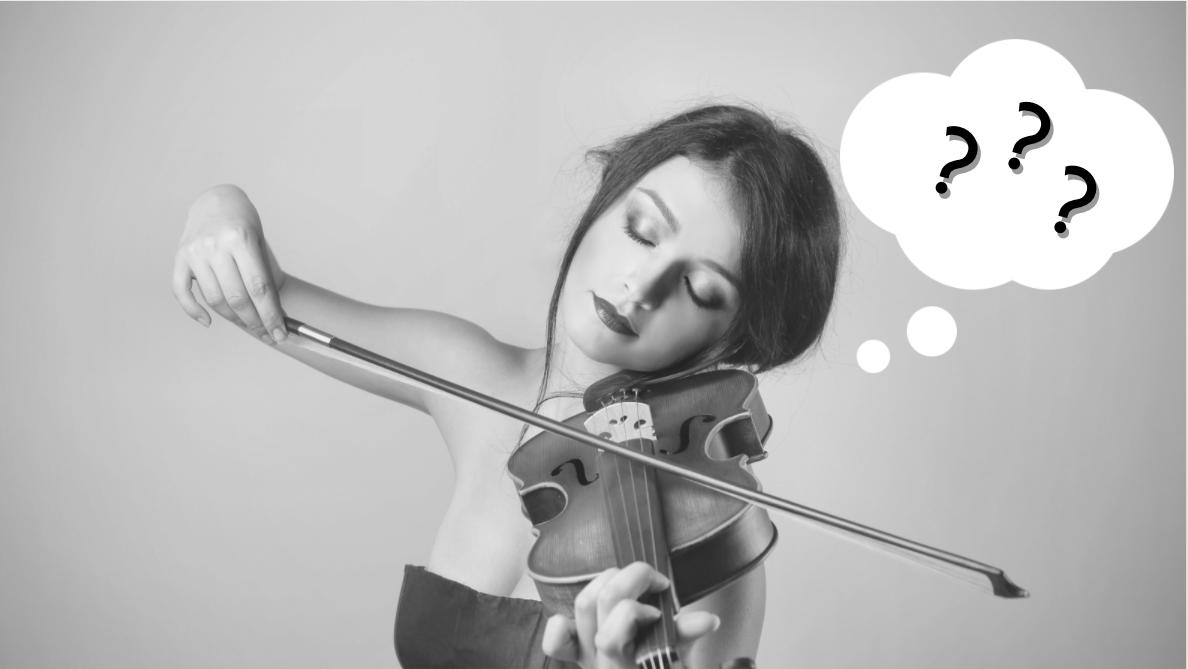 Confused new violinist