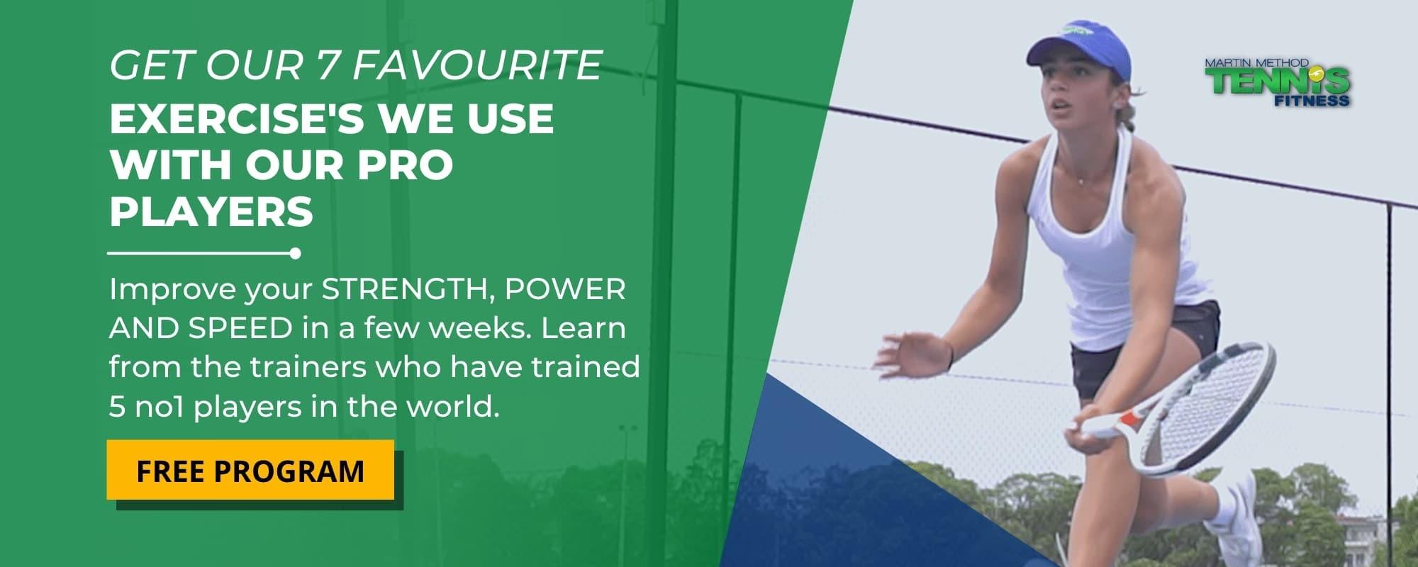 best tennis exercises