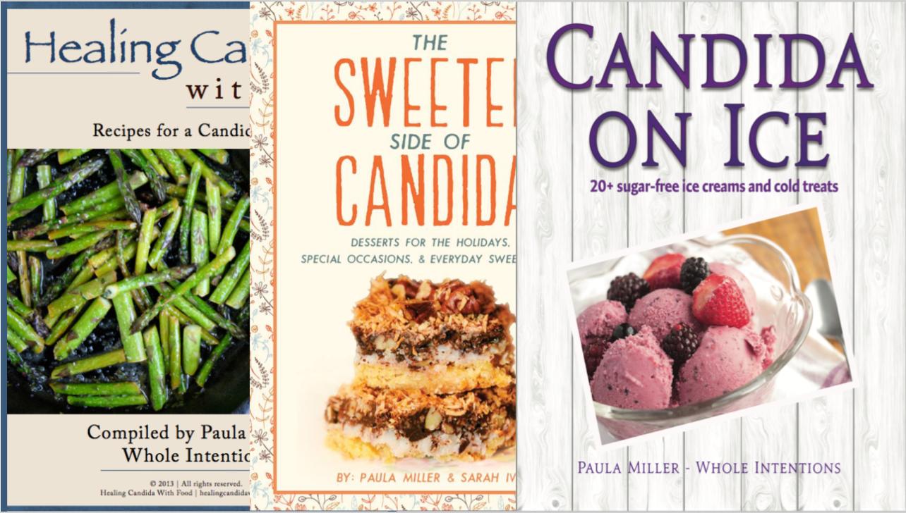 three candida cookbooks