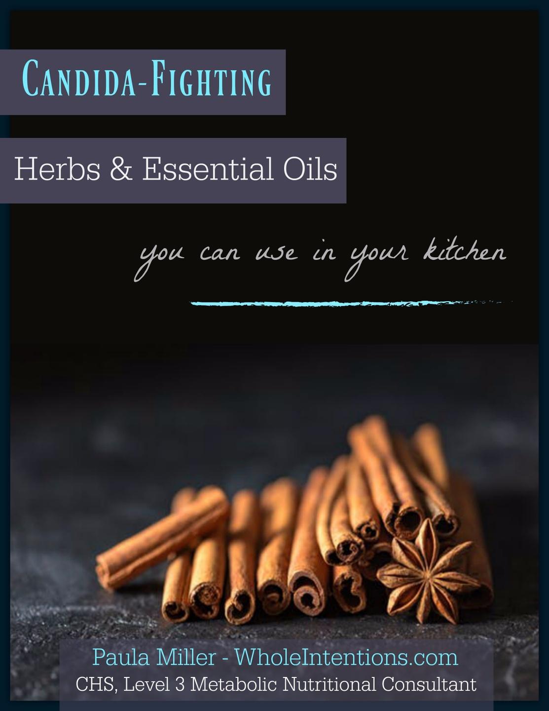 candida-fighting cinnamon stick herbs on black table