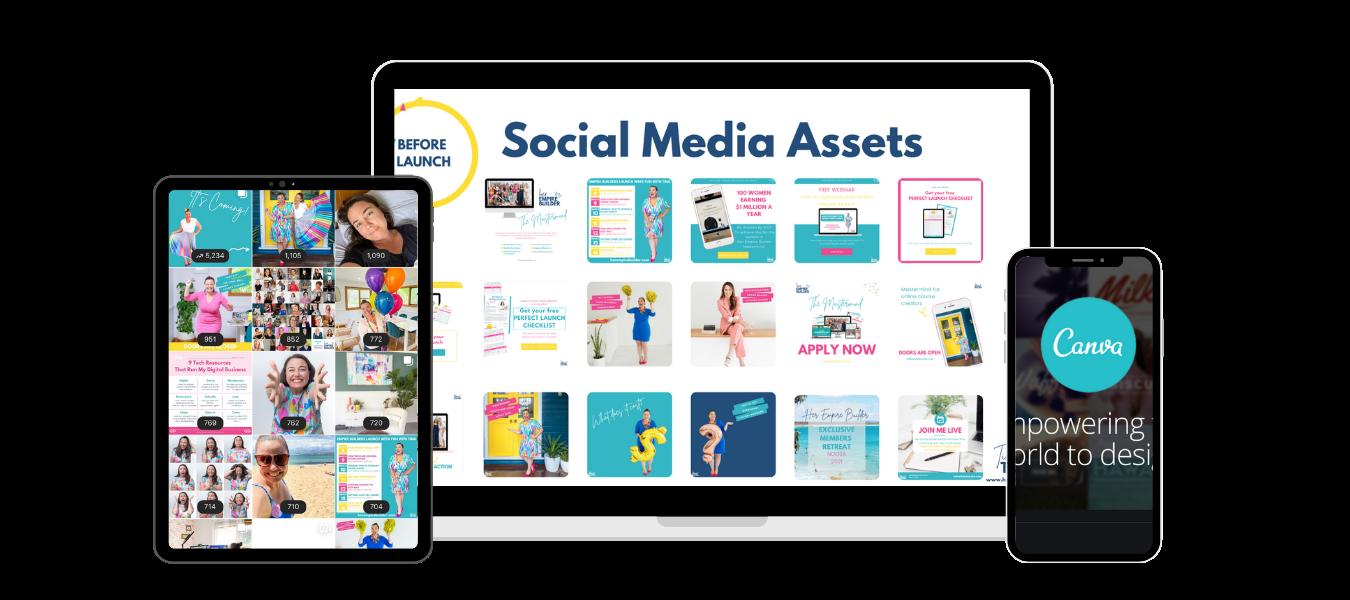 Canva Templates social media online course launch