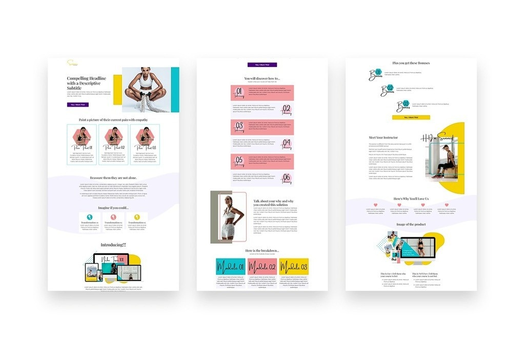 kajabi templates and themes sales pages