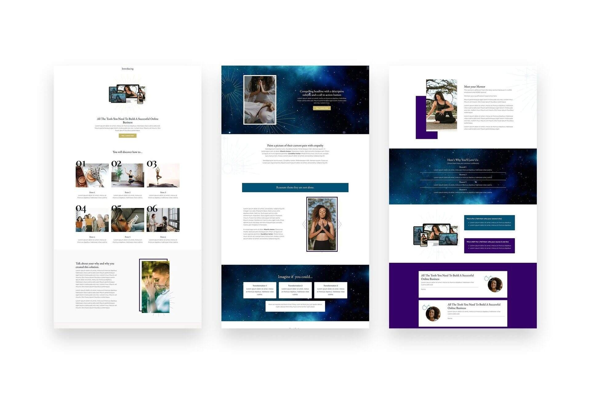 kajabi templates and themes sales page