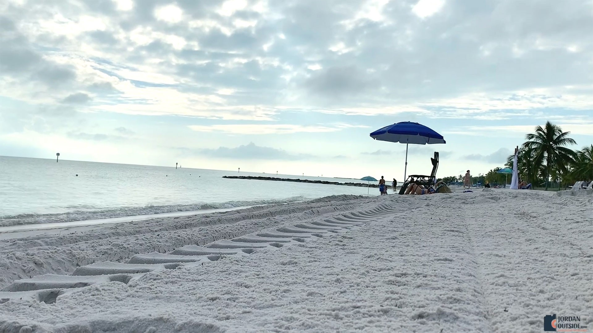 Smathers Beach in Key West, Florida