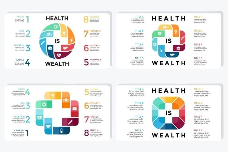 These PowerPoint slides are built with medical professionals with different colors and themes that help your PowerPoint presentation standout.
