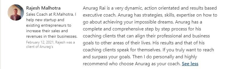 Anurag Rai Review