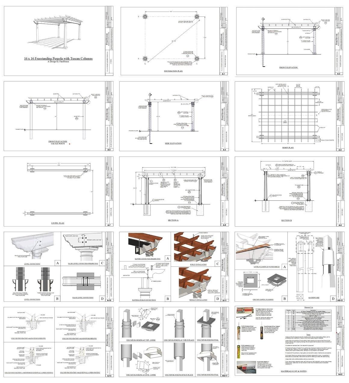 Pergola trellis design with plans