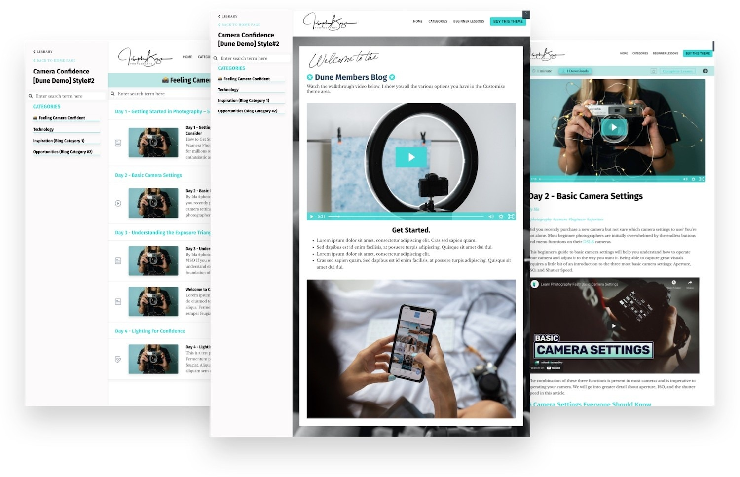Kajabi Template - Dune Product Theme Mobile View - Designed by Penny In Your Pocket