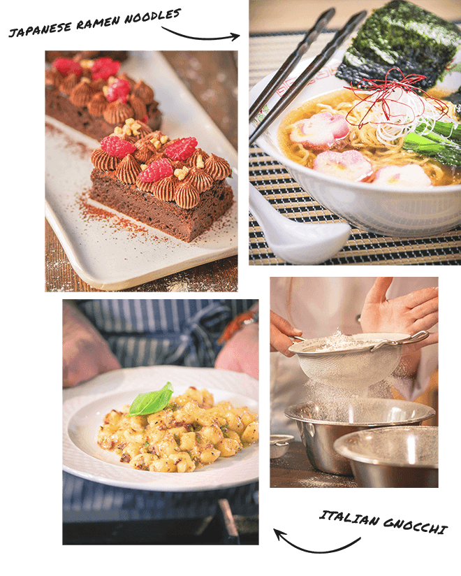 vegan food and dishes made on veecoco cooking school