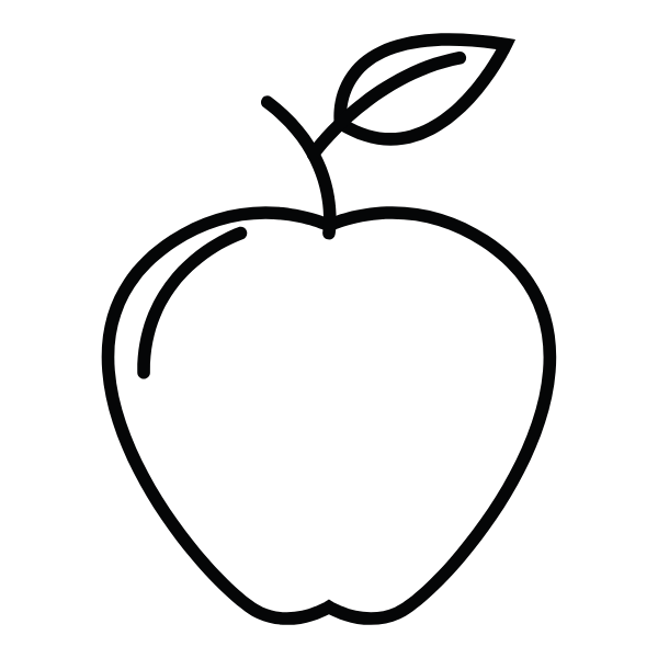 An apple which is an example of a vegan fruit to use in cooking
