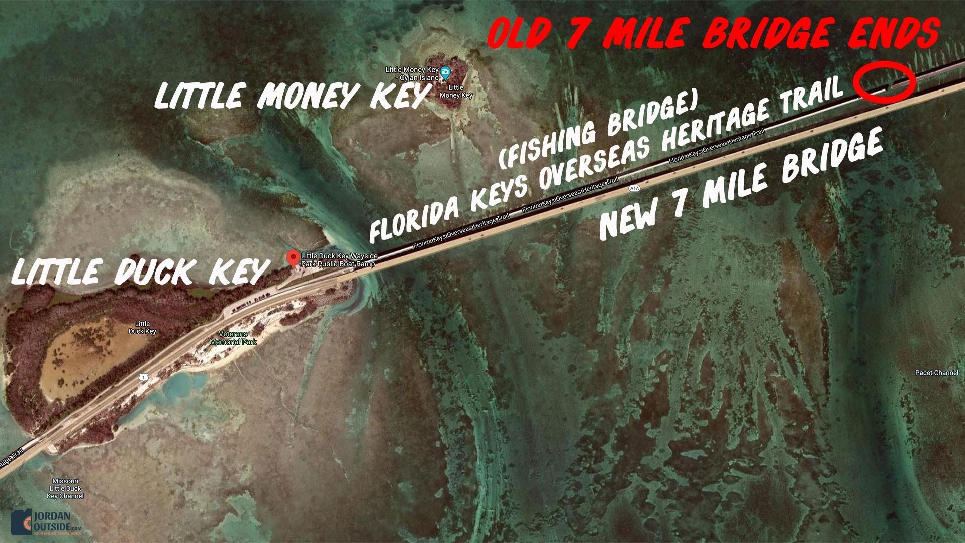 Little Duck Key Map of Fishing Bridge