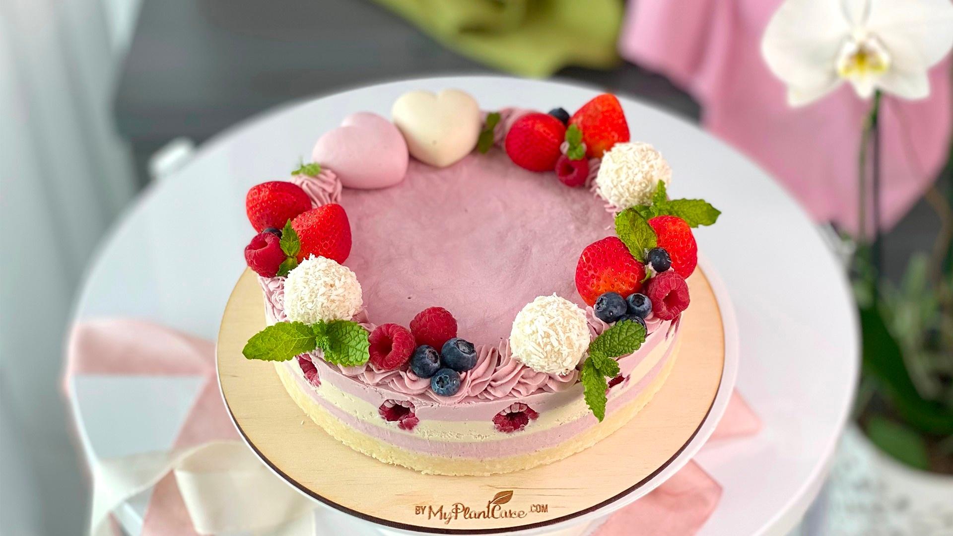 Raspberry White Chocolate Vegan Cake