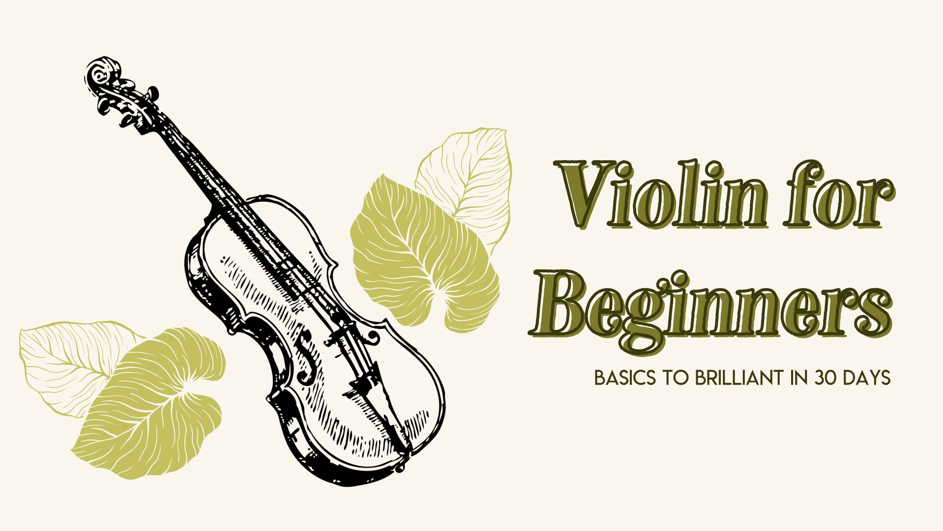 violin for beginners online course