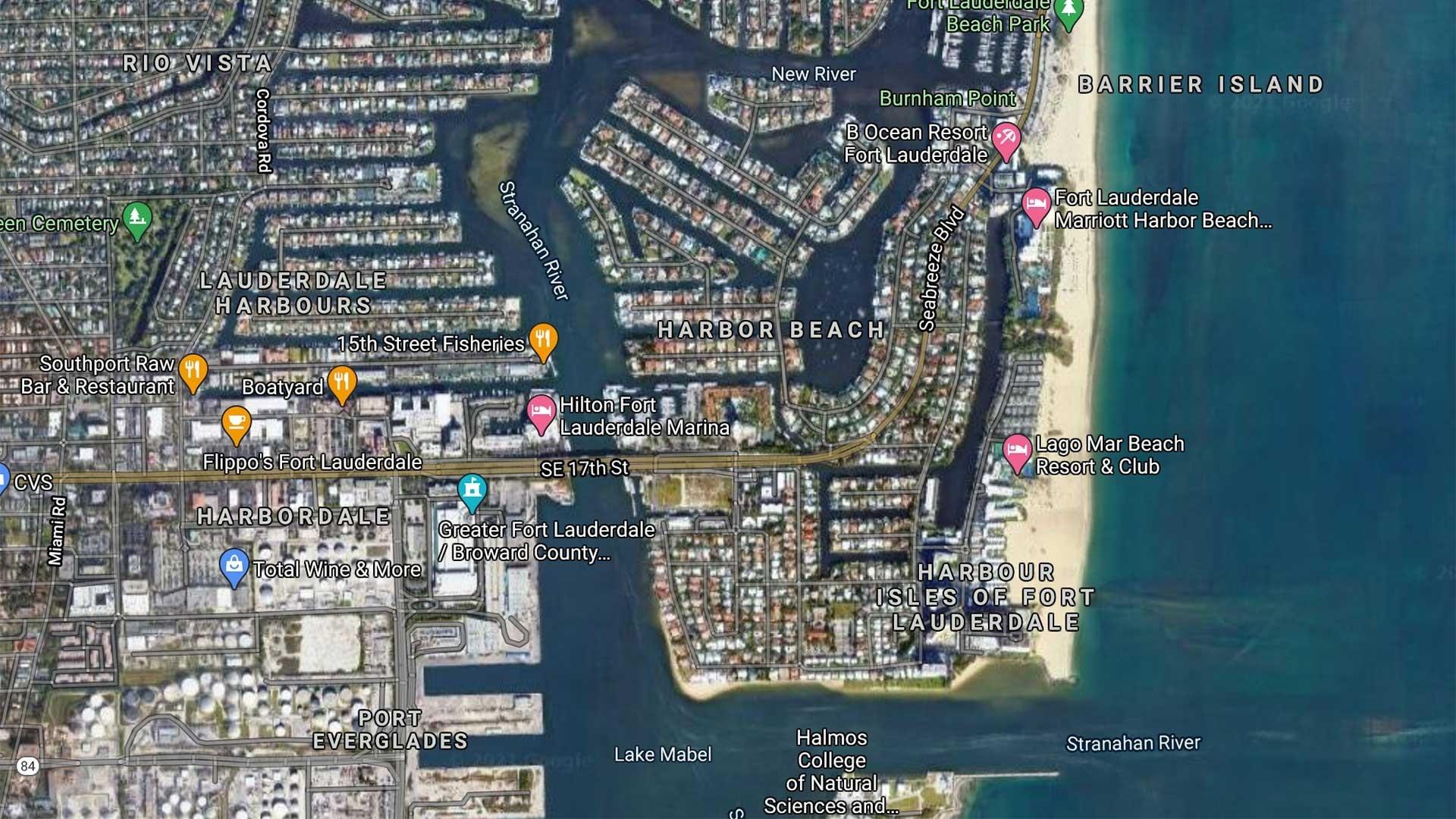 Ft. Lauderdale Beach Map