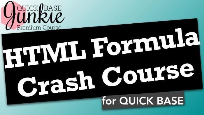 HTML Formula Crash Course