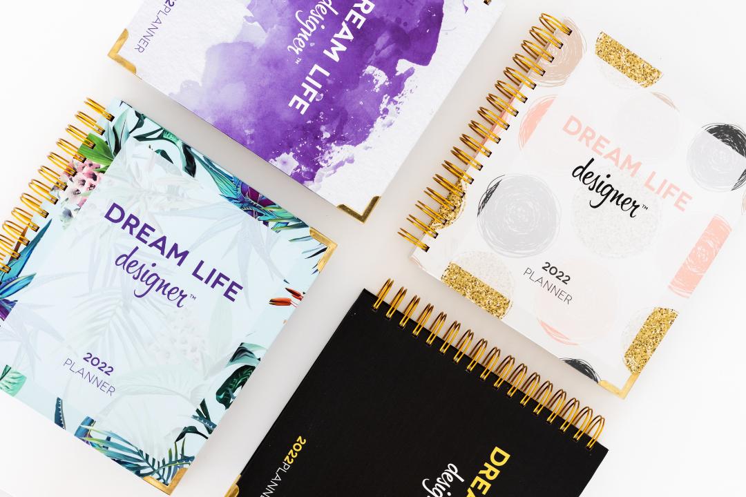 Classic Black Dream Life Designer Planners 2022 all variations