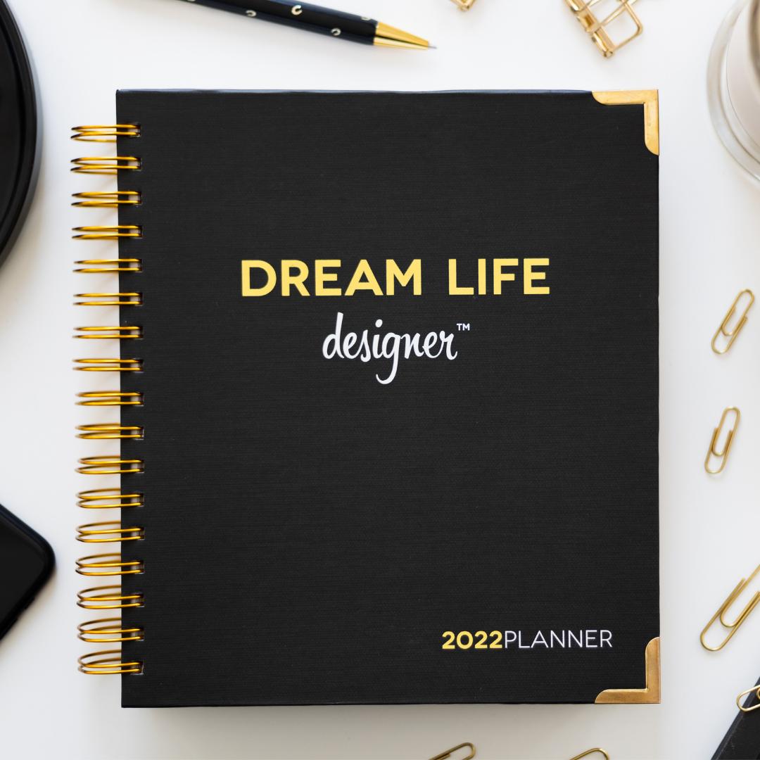 Classic Black Dream Life Designer Planner 2022
