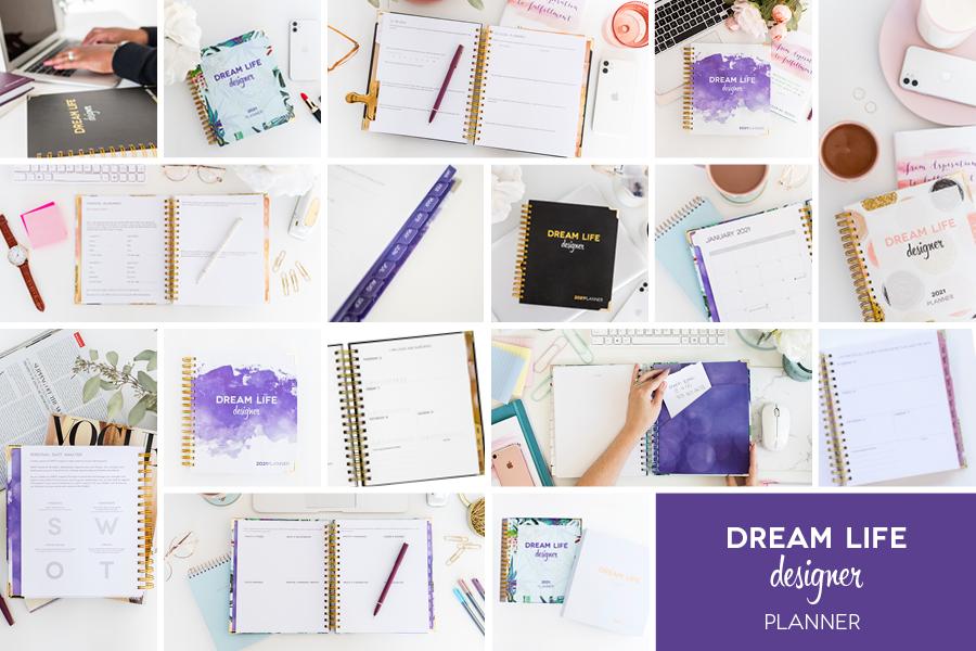 Dream Life Designer Planner Collage 2022