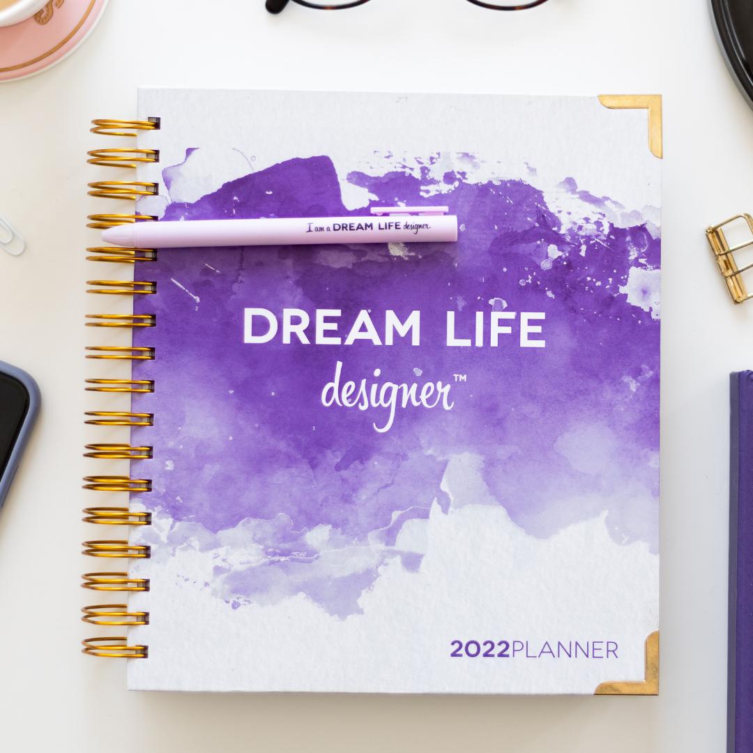 Purple Splash Dream Life Designer Planner 2022