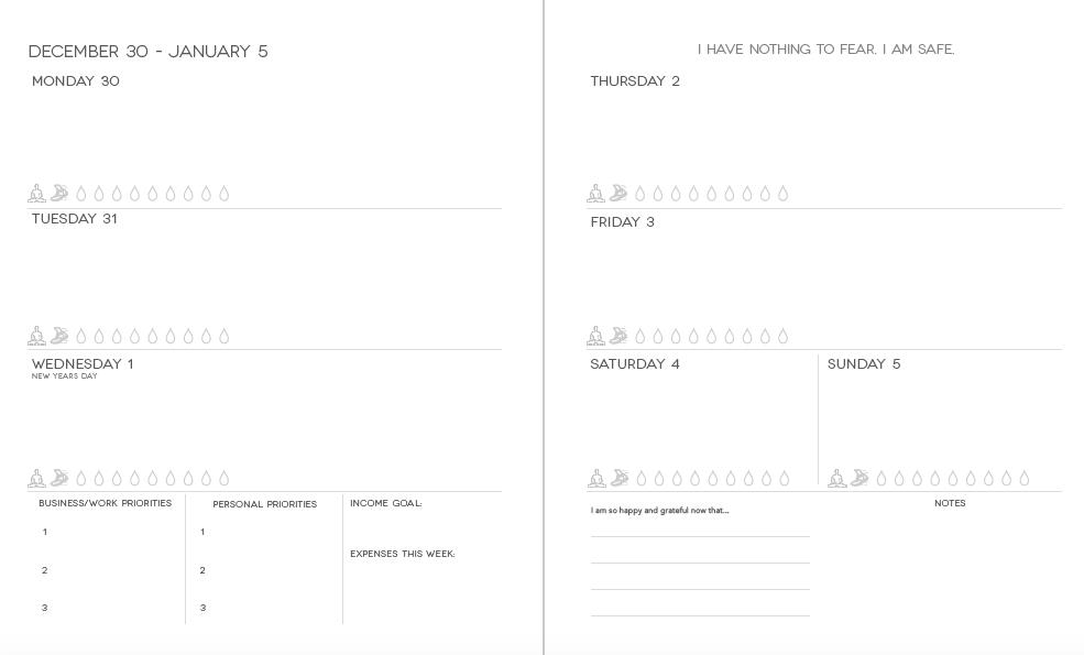 Dream Life Designer Planner 2022 Weekly View