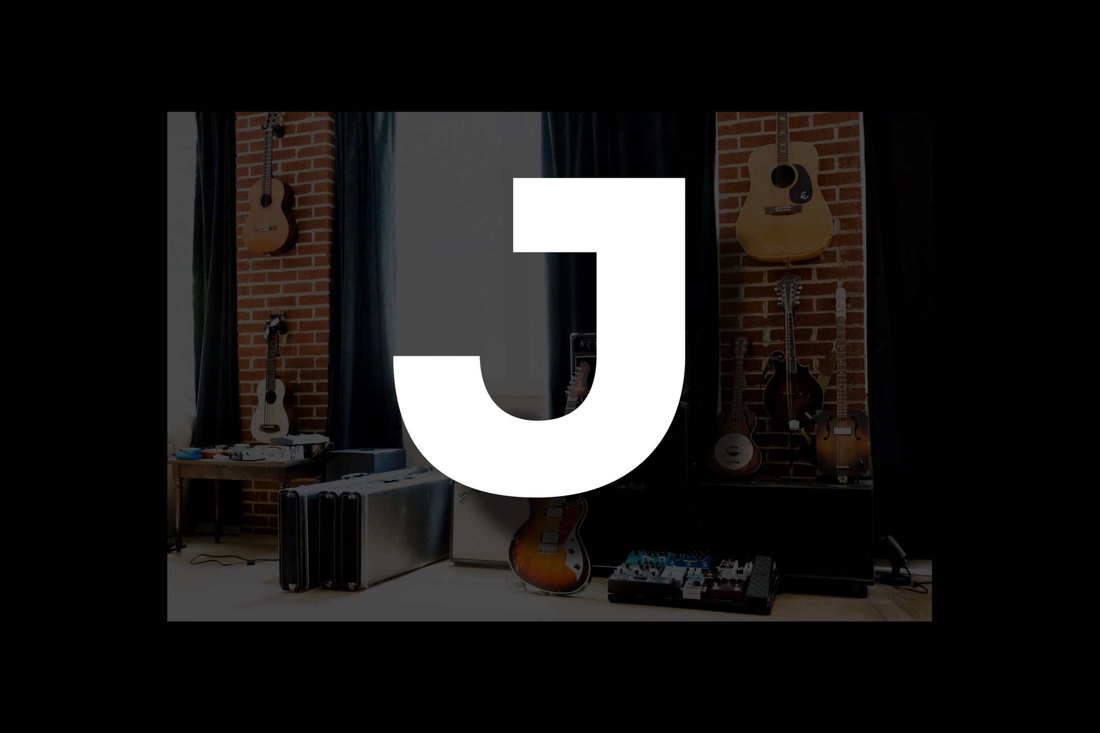 Glossary section containing music and guitar words that start with the letter J..