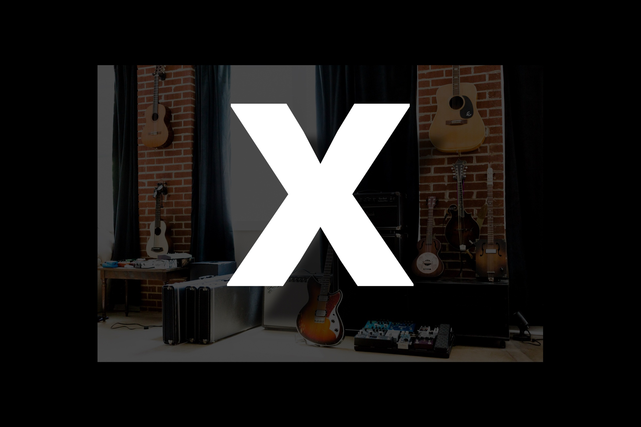 Glossary section containing music and guitar words that start with the letter X.