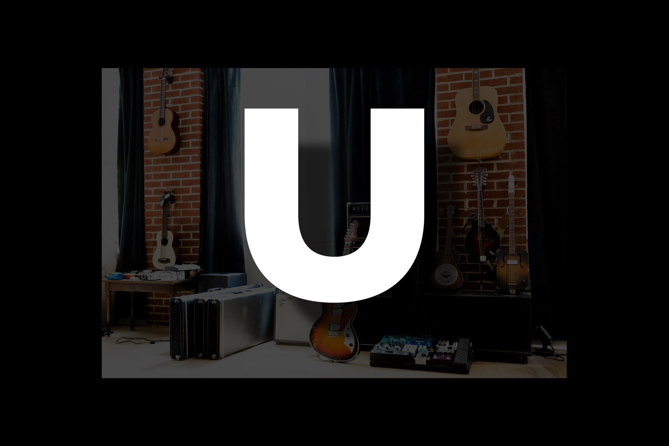 Glossary section containing music and guitar words that start with the letter U.