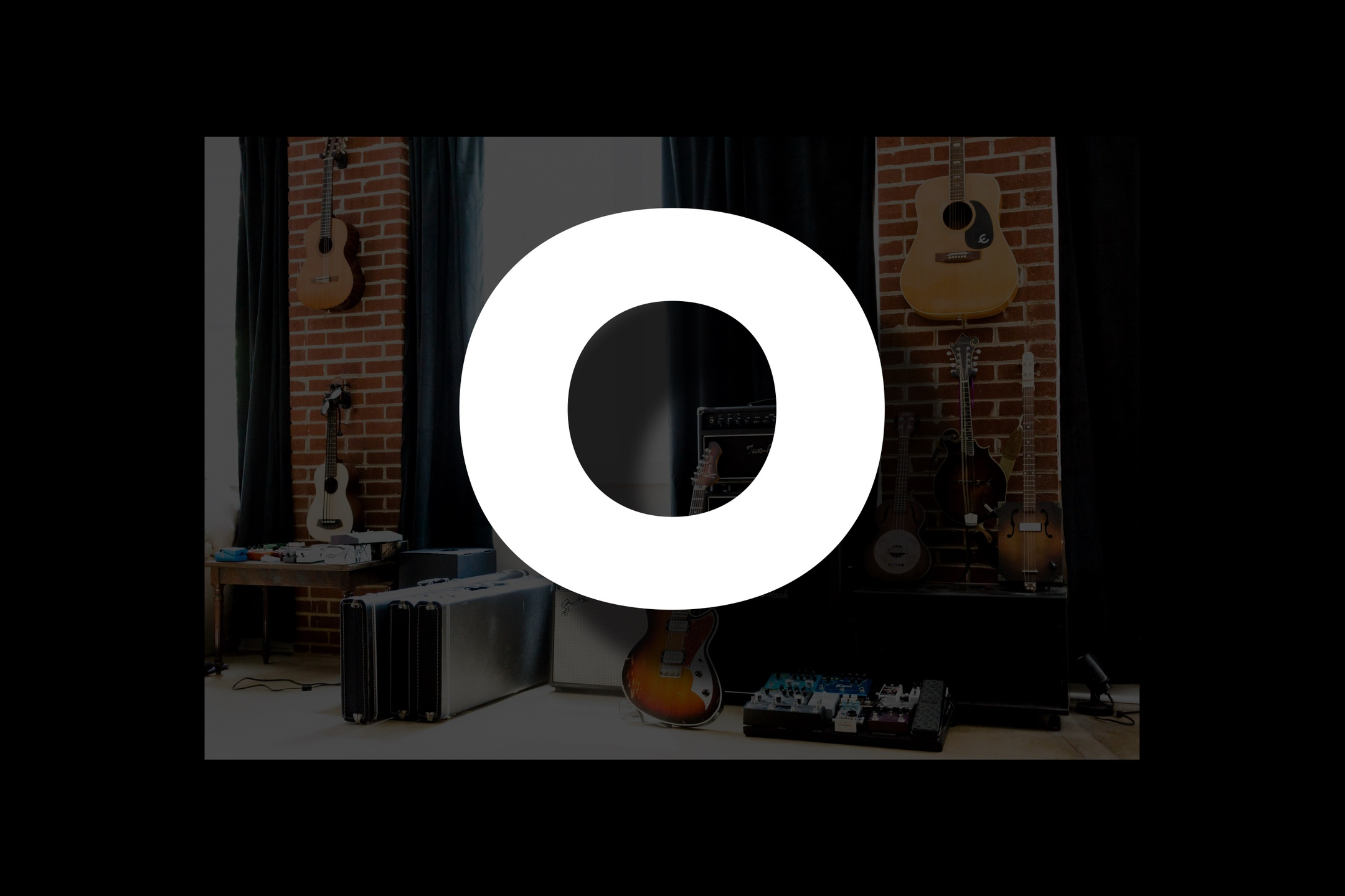 Glossary section containing music and guitar words that start with the letter O.