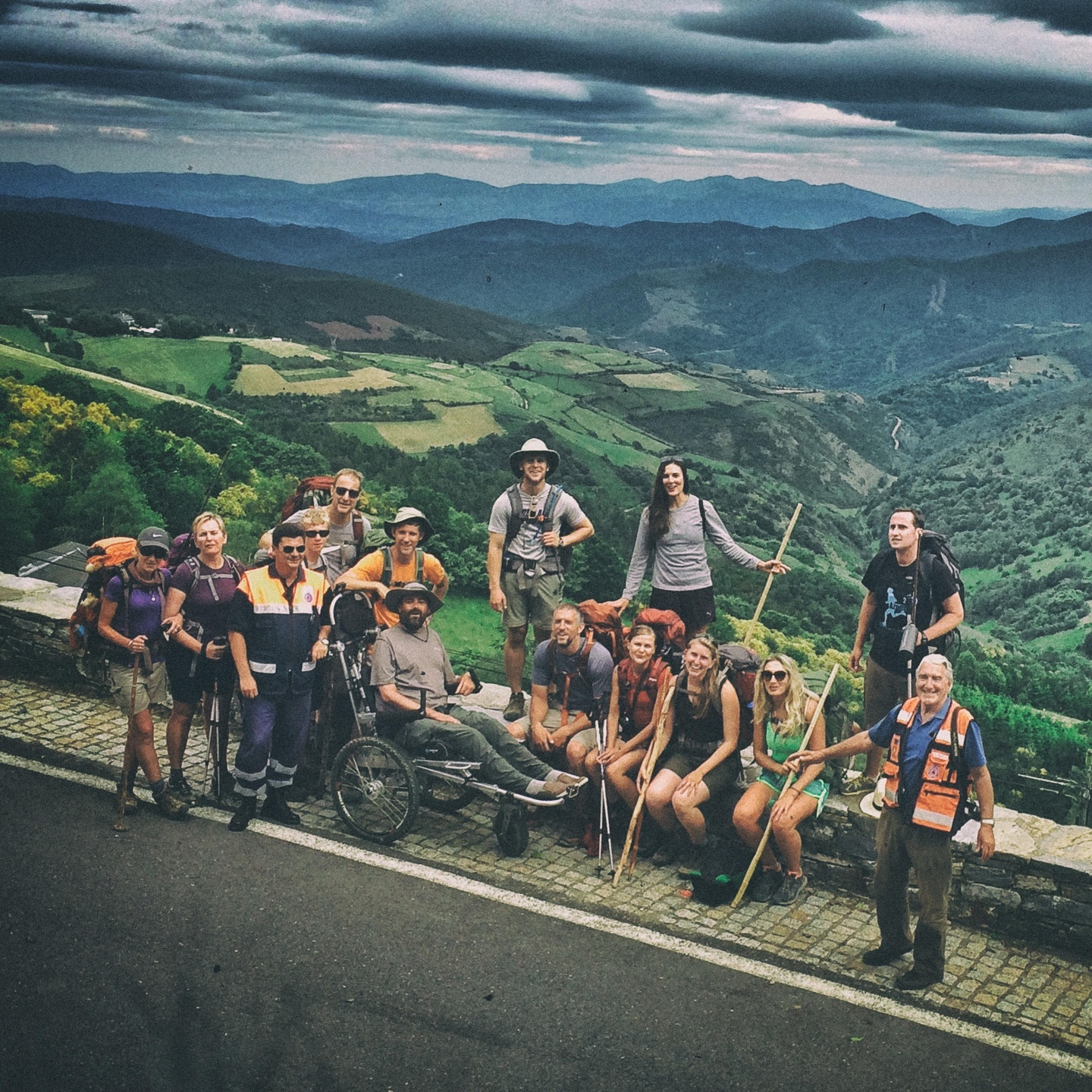 Group on the Camino